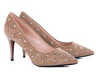 Женские туфли на каблуке оптом от фирмы Башили 35087-7 Beige (6пар 36-40)