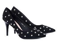 Женские туфли на каблуке оптом от фирмы Башили 35087-7 Black (6пар 36-40)