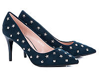 Женские туфли на каблуке оптом от фирмы Башили 35087-7 Blue (6пар 36-40)