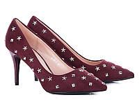 Женские туфли на каблуке оптом от фирмы Башили 35087-7 Bordo (6пар 36-40)