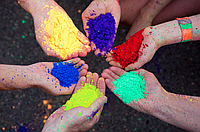 Фарби Холі (Гула), Фарба Холі, набір 10 кольорів пакети 100 грам, фото 1