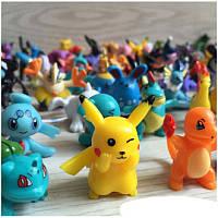 Мини игрушки покемон, пластик, 3см