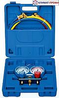 Манометр двухвентильный Value VMG-2 R22 -B   Шкала: R407c, R404a, R134a, R22.  шланги 120 см ,чемодан
