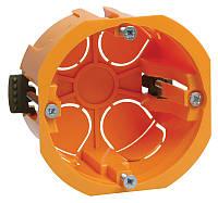 Коробка КМ40022 установочная d65х45мм для полых стен (с саморезами и пластиковыми лапками)