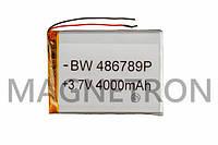 Аккумулятор литий-полимерный BW 486789P 3,7V 4000 mAh 68x92mm