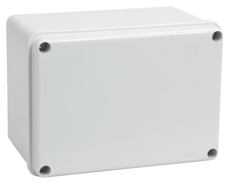 Коробка КМ41261 распаячная для о/п 150х110х85 мм IP44 (RAL7035, гладкие стенки)