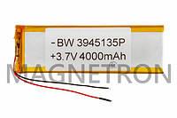 Аккумулятор литий-полимерный BW 3945135P 3,7V 4000 mAh 45x139mm
