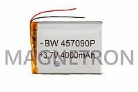 Аккумулятор литий-полимерный BW 457090P 3,7V 4000 mAh 68x92mm