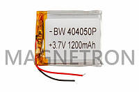 Аккумулятор литий-полимерный BW 404050P 3,7V 1200mAh 40x48mm