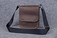 Мужская кожаная сумка через плечо | BR-BAG-2105 | Ручная работа, фото 1