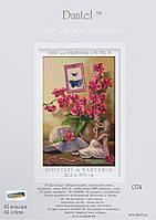 Набор для вышивки крестом Орхидея и шляпа