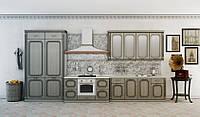 Кухня ТОСКАНА (RODA): из специально фрезерованного под классику МДФ с покрытием ПХВ и с нанесением патины
