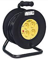 Катушка УК30 с термозащитой 4 места 2Р+PЕ/30метров 3х1 мм2