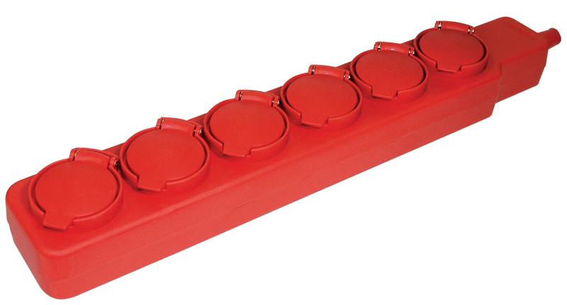Удлинитель У06В 6 места с защитными крышками IP44 2Р+PE/5метров 3х1мм2 16А/250В ИЭК
