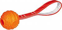 Мяч Trixie Soft & Strong Ball on Rope для собак резиновый, на ремешке, 6х26 см