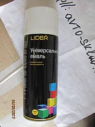 Емаль, фарба універсальна LIDER біла глянець