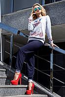 Женскийспортивный костюм стильный с принтом