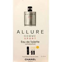 Туалетная вода с феромонами Allure Home Sport Chanel 3х15 мл.