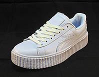 Кроссовки  Puma by Rihanna кожаные белые унисекс (р.36,38,39,40)
