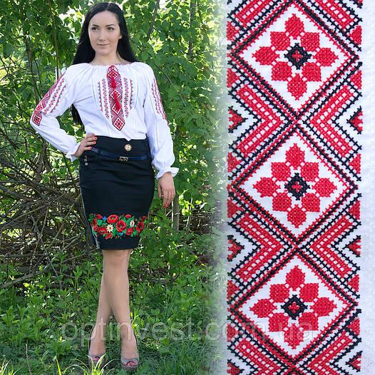"""Женская рубашка - вышиванка """"Ромбы"""""""