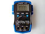 Мультиметр / Тестер HP-37C з автоматичним вибором діапазонів, True RMS, тест акумуляторів/батарейок, NCV, фото 4