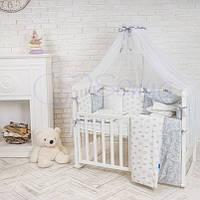 Комплект Baby Design Premium crown, серый цвет