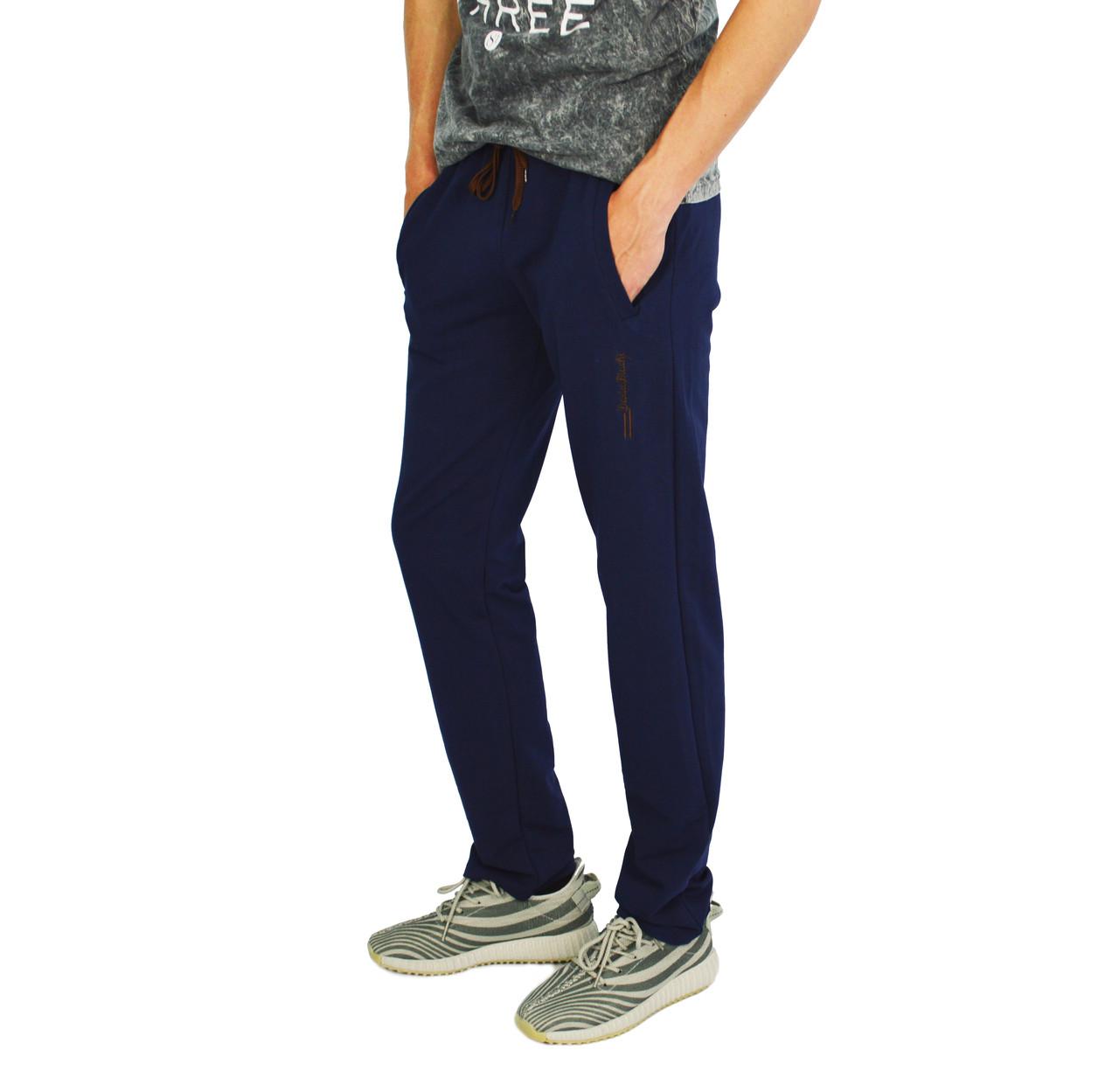 Синие мужские спортивные трикотажные штаны DARIO BIACHI