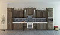Кухня РЕПРИЗА (RODA): выполнена в классическом стиле из МДФ с покрытием ПХВ и с нанесением патины