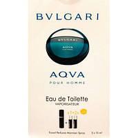 Туалетная вода с феромонами Bvlgari Aqva Pour Homme 3х15 мл.