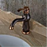 Кран змішувач у ванну темний одноважільний 0391, фото 2