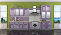 Кухня ЮВА (RODA): из специально фрезерованного под классику МДФ с покрытием ПХВ и с нанесением патины