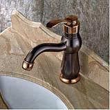 Кран змішувач у ванну темний одноважільний 0391, фото 5