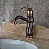 Кран змішувач у ванну темний одноважільний 0391, фото 6