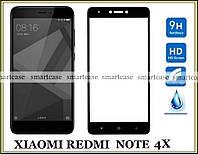 Полноразмерное защитное стекло для Xiaomi Redmi Note 4X черное 2.5D 9H