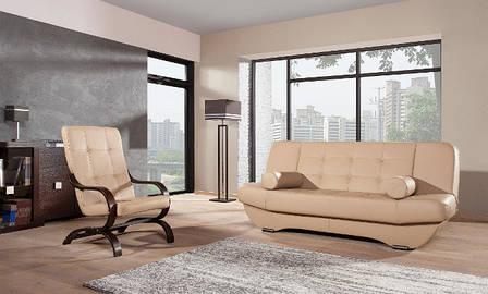 Стильное кожаное кресло ERYK (80 см), фото 2