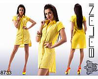 Летнее  хлопковое  платье  -  8733