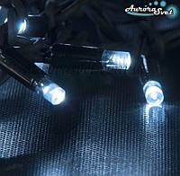 LED гирлянда от AuroraSvet белая нить 10м. Светодиодная гирлянда. Гирлянда LED., фото 1
