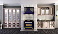 Кухня КАМЕЛИЯ (RODA): фасад МДФ с покрытием ПХВ и с нанесением патины в стиле классика