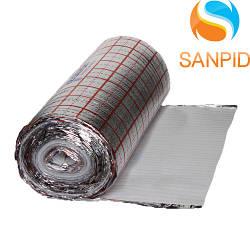 Полотно ламинированное Teploizol (M) с разметкой 5 мм