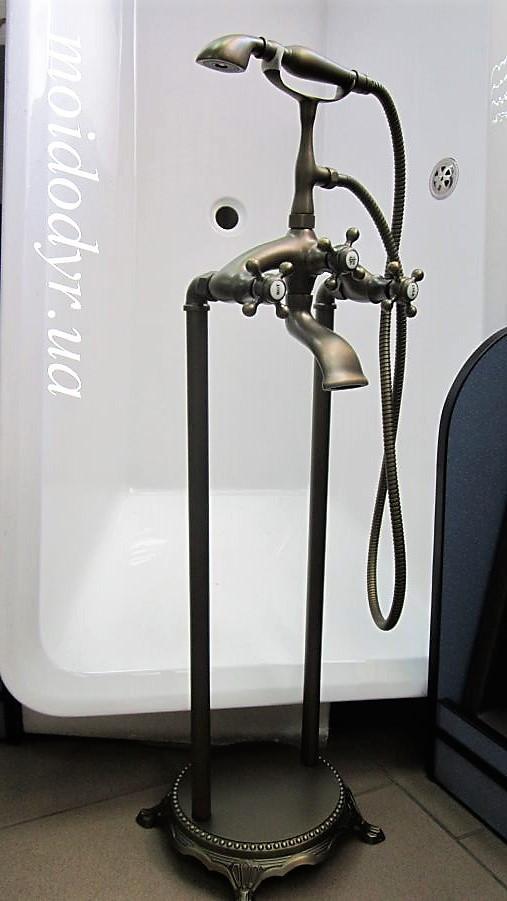 Смеситель Retro античная латунь напольный  для ванной комнаты