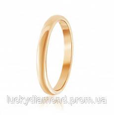 Класическое золотое обручальное кольцо 3.5мм шириной