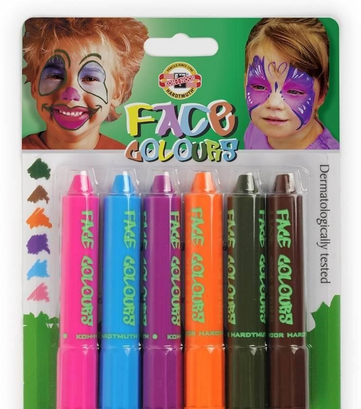 Краски для лица 4610_mix colors 6шт