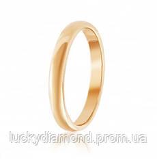 Класическое золотое обручальное кольцо 4мм шириной