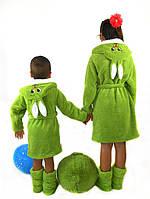 Детский махровый халат Зайка № 004 (рош)