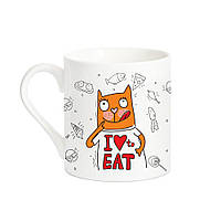 """Дизайнерская кружка с котом """"Хочу ще!"""" XL"""