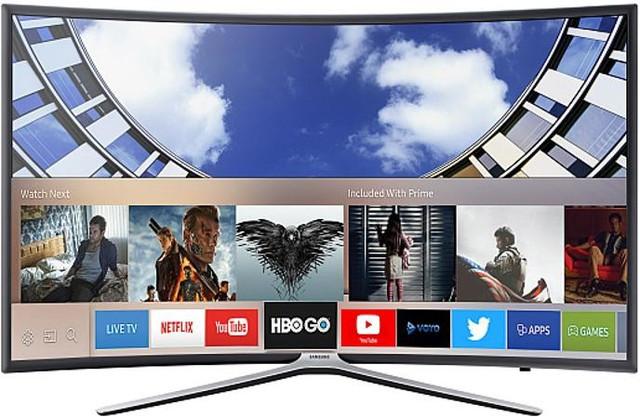 Телевизор Samsung UE49M6372 (PQI 900 Гц, Full HD, Smart, Wi-Fi, DVB-T2/S2, изогнутый экран)