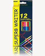 """Карандаши цветные двухстор.MARCO 4110-12/24 12 кар.24цв.серия """"SuperB Writer"""" очень мягкие"""