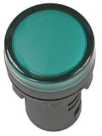 Лампа AD22DS(LED)матрица d22мм зеленый 110В AC/DC ИЭК, фото 1