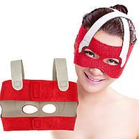 Маска-бандаж для коррекции овала лица (лобные, носовые складки, щеки)