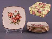 Набор из 6 десертных тарелок 18 см Lefard Корейская роза 215-144